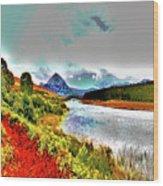 Mount Errigal, Donegal, Ireland, Poster Effect 1a Wood Print