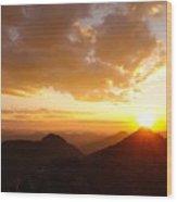 Mount Evans Sunset Wood Print