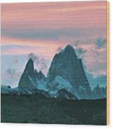 Mount Fitz Roy At Dusk Wood Print