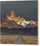 Mount Fitz Roy At Sunrise, Patagonia, Argentina Wood Print