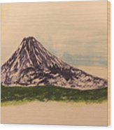 Mount Fuji And Power Of Mystery Wood Print