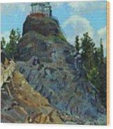 Mount Grace 1890 Apollinaris M Vasnetsov Wood Print