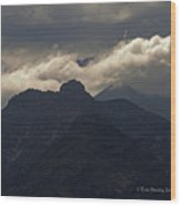 Mount Graham Mountain In Arizona Wood Print