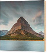 Mount Grinnell In Glacier Np Wood Print