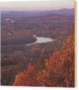 Mount Holyoke Foliage Wood Print