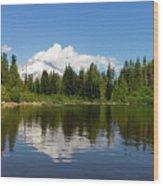Mount Hood By Mirror Lake Wood Print