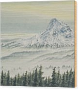 Mount Hood Evening Wood Print