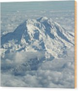 Mount Hood From Above Wood Print