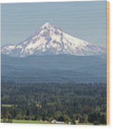 Mount Hood In The Summer Wood Print