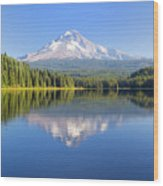 Mount Hood On A Sunny Day Wood Print