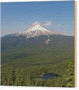 Mount Hood Over Mirror Lake Wood Print
