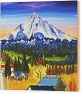 Mount Hood River Valley #1. Wood Print