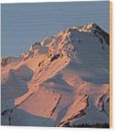 Mount Hood Sunset Glow Wood Print