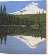 Mount Hood-trillium Lake Wood Print