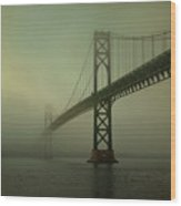 Mount Hope Bridge Wood Print by Dave Gordon