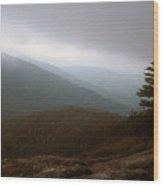 Mount Horrid Cliff Storm Wood Print