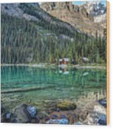 Mount Huber At Lake O'hara Wood Print