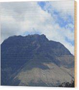 Mount Imbabura And Cloudy Sky Wood Print
