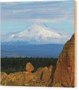Mount Jefferson Wood Print