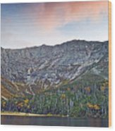 Mount Katahdin From Chimney Pond In Baxter State Park Maine Wood Print