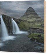 Mount Kirkjufell Iceland Wood Print