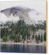 Mount Lassen Volcano In The Clouds Wood Print
