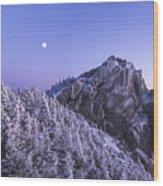 Mount Liberty Blue Hour Wood Print