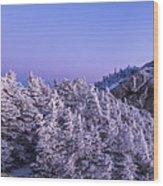 Mount Liberty Blue Hour Panorama Wood Print