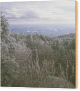 Mount Monadnock Ice Storm Wood Print
