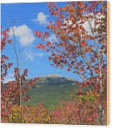Mount Monadnock Red Maple Foliage Wood Print