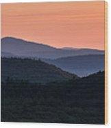 Pack Monadnock Seen At Dawn Wood Print
