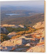 Mount Monadnock Summit View Wood Print