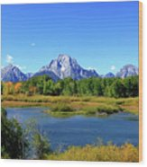 Mount Moran, Grand Tetons National Park, Wyoming  Wood Print