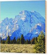 Mount Moran Wood Print
