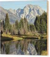 Mount Moran Reflections Wood Print
