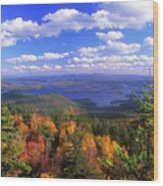 Mount Morgan Squam Lake Foliage Wood Print