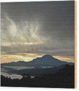 Mount Of Borneo Malaysia Wood Print