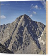 Mount Of The Holy Cross In The Sawatch Range Of The Colorado Rockies Wood Print