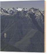 Mount Olympus Washington Wood Print