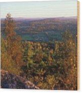 Mount Philo Foliage View Wood Print