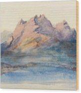 Mount Pilatus From Lake Lucerne, Switzerland Wood Print