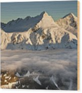 Mount Pollux And Mount Castor At Dawn Wood Print