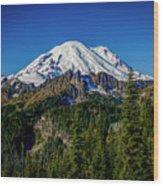 Mount Rainier - Eastside Wood Print