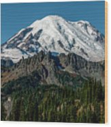 Mount Rainier - Cowilitz Chimneys  Wood Print