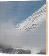 Mount Rainier Behind Clouds 2 Wood Print