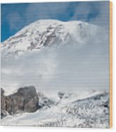 Mount Rainier Behind Clouds 3 Wood Print