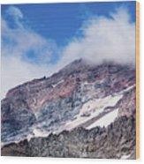 Mount Rainier Closeup Wood Print