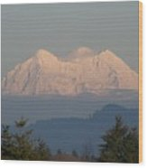 Mount Rainier February Ninth Wood Print