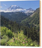 Mount Rainier From Scenic Viewpoint Wood Print