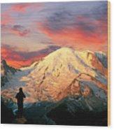 July In Washington, Mount Rainier National Park Wood Print